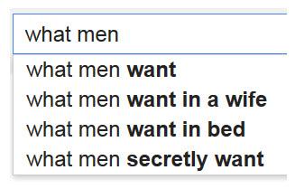 Google-What-Men-Want