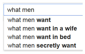 Google-What-Men-Want